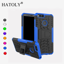 HATOLY For Capa Huawei Honor 7X Case Silicone & Plastic Armor Case For Huawei Honor 7X Cover Huawei Honor 7 X Kickstand Fundas] все цены