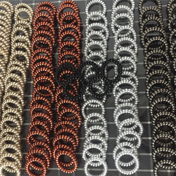 Gros femmes Bracelet élasticité téléphone fil-câble spirale bande bobine cravate cheveux élastique pour queue de cheval chouchous