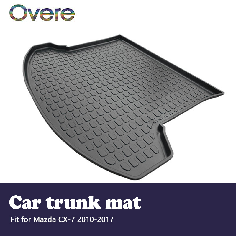 Overe 1Set Car Cargo rear trunk mat For Mazda CX-7 2010 2011 2012 2013 2014 2015 2016 2017 Boot Liner Anti-slip mat Accessories цена