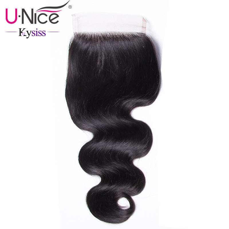 Unice Lace-Closure Virgin-Series Brazilian Body-Wave Swiss 100%Human-Hair 8A Kysiss 10--20-120%Density