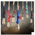 Лофт водопровод подвесной светильник Ретро Эдисон Свет E27 110-240 В для бара паба столовой ресторана подвесное освещение