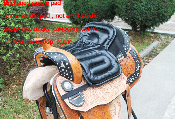 Black Horse Riding Saddle Pad Soft Equestrian Seat Pad Horse Riding Equipment Pu Material Discount Price(China)