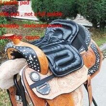 Черная подушка для седла для верховой езды мягкая подушка для сиденья для верховой езды оборудование для верховой езды Pu материал Цена со скидкой