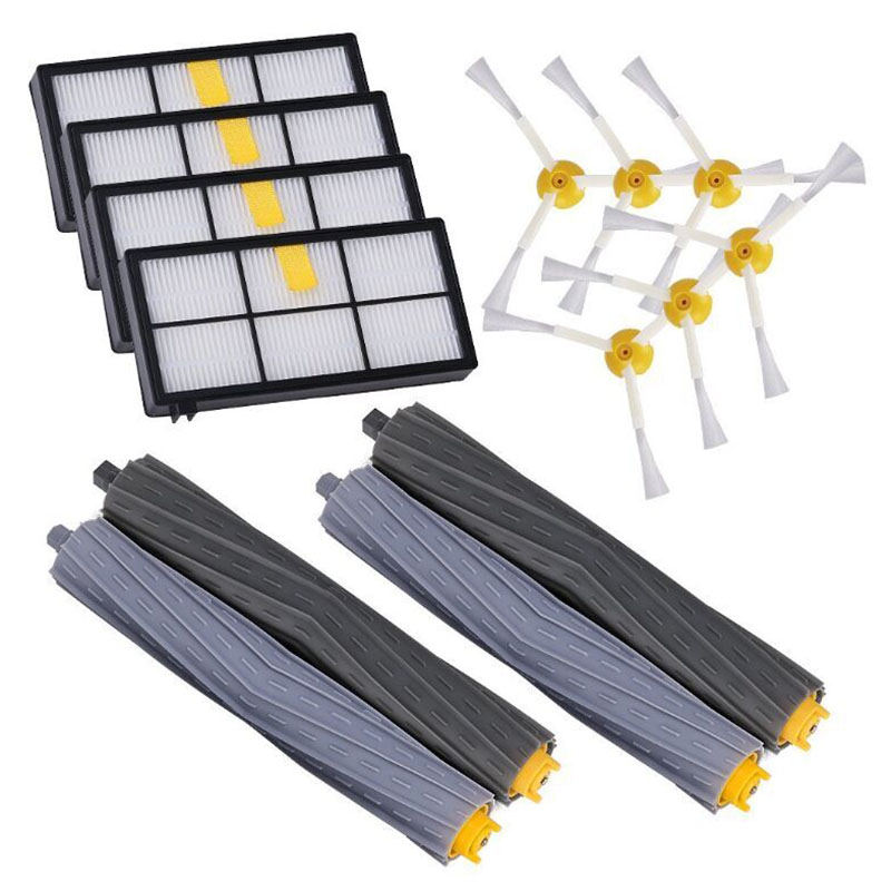 Replacement Parts for iRobot Roomba 800/900 Series Vacuum Cleaning Robots Accessories include 4 Filter 6 Side Brush 4 Tangle-FReplacement Parts for iRobot Roomba 800/900 Series Vacuum Cleaning Robots Accessories include 4 Filter 6 Side Brush 4 Tangle-F