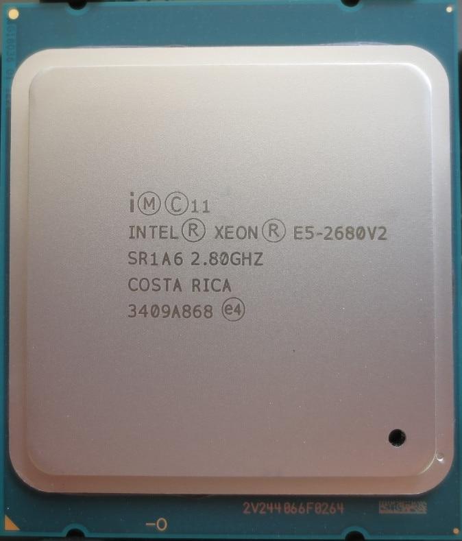 Процессор Intel Xeon E5 2680 V2 Процессор e52680 V2 2.8 LGA 2011 sr1a6 десять ядер процессора сервера e5-2680 V2 e5-2680v2