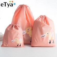 eTya Waterproof Travel Cosmetic font b Bag b font Women Cosmetic Organizer Makeup font b Bags