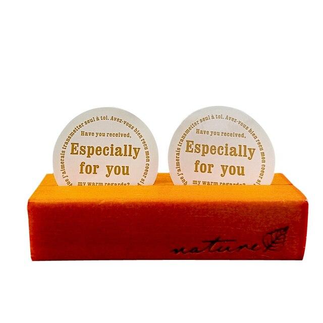 120 Pcs/lot Handmade White Especially for you Cake Packaging Sealing Label Kraft Sticker Baking DIY Gift Box Round Stickers