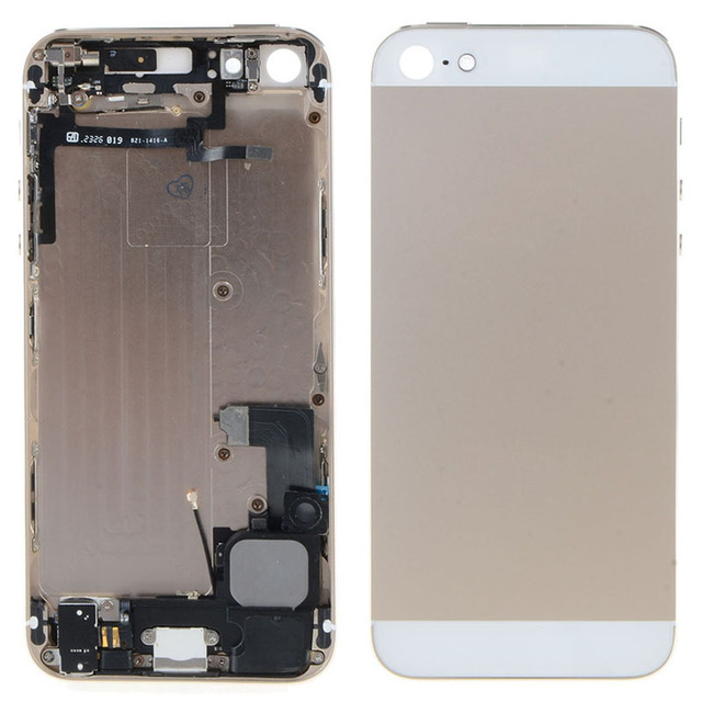 New Chassis Full Parts For iPhone 5 5G Housing Middle Frame Back Cover Battery Door Rear Case Assembly With Logo