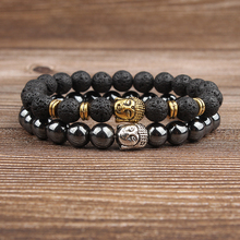 Lingxiang New fashion natural jewelry and pearl chain buddhist bracelet for men womens gift sales