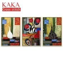 Наборы для вышивки крестиком, наборы для рукоделия с печатным рисунком, 11ct холст для домашнего декора живопись, цветы полный NCKF152