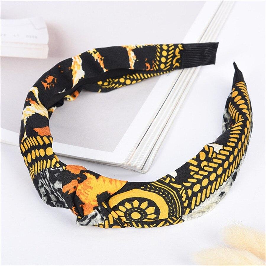 2019 women`s bandanas headwear yoga sport sweatband stretch cute hair banded leopard print sweatband bandanas para cuello 30J16 (4)