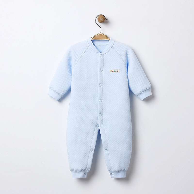 One Piece Jumpsuits Buttons Up 100 Cotton Long Sleeves Pink Cute Coveralls 0 12 Months in Rompers from Mother Kids