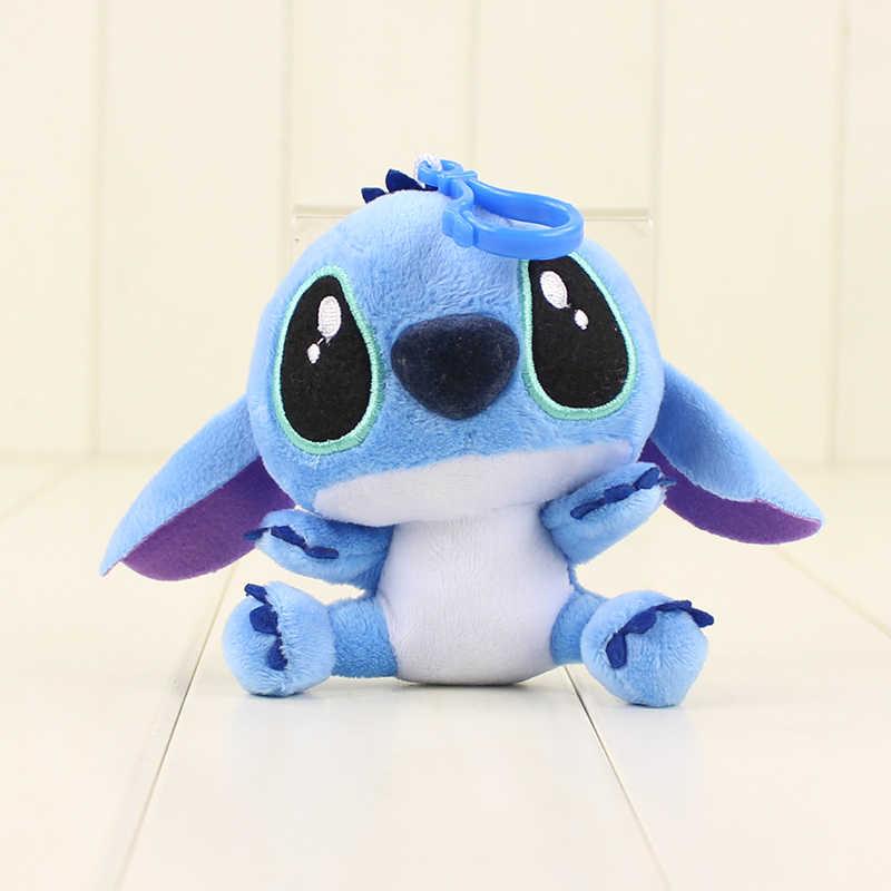10 centímetros Lilo Stitch Scrump Lilo e Stitch Brinquedos de Pelúcia Com Ventosas Ganchos Chaveiro Pendents Presente para As Crianças