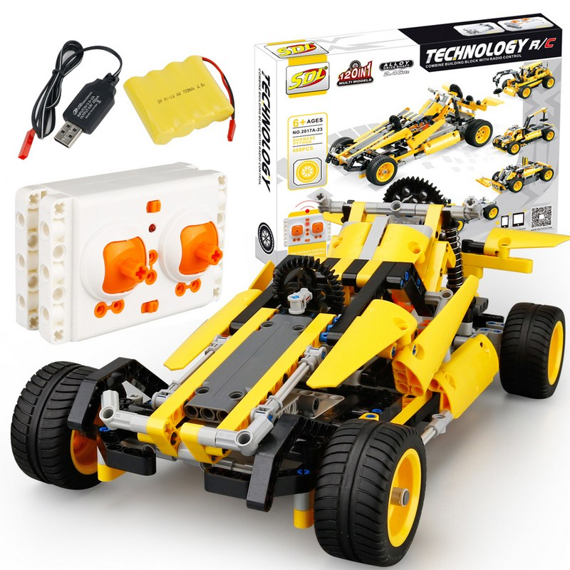 468 PCS RC Car Remote Control Deformation Car Mode toys DIY Vechicles Toys 2.4G Off-Road Truck Toy Kids Childrens Birthday Gift