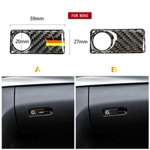 Interior trim strip Carbon Fiber Door Handle Sticker Copilot Side Storage Trim Sticker for Mercedes C-Class W205 GLC #713