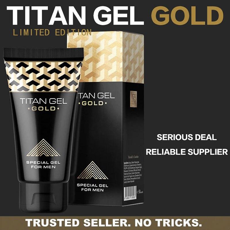 Produits intimes russes de sexe de Gel d'or de Gel de Titan pour des adultes