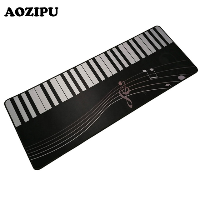 Piano Key 300x800mm Large Gaming Mouse Pad R Locking Edge Keyboard Computer Mice Mat Rug