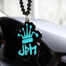 Синий JDM Корона Знак хип-хоп мода кулон стайлинга автомобилей личность интерьер Зеркало заднего вида орнамент Бусины Цепочки и ожерелья очарование