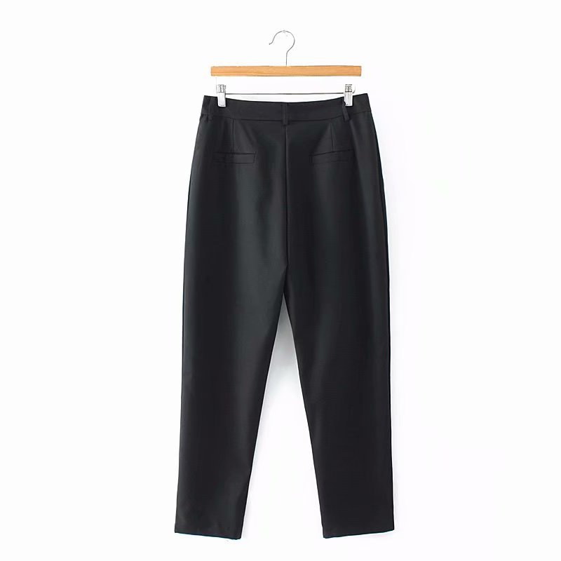 F42 Autumn Plus Size Women Clothing Ankle-length Pants 4XL Casual Fashion Loose straight Pants 8802 2