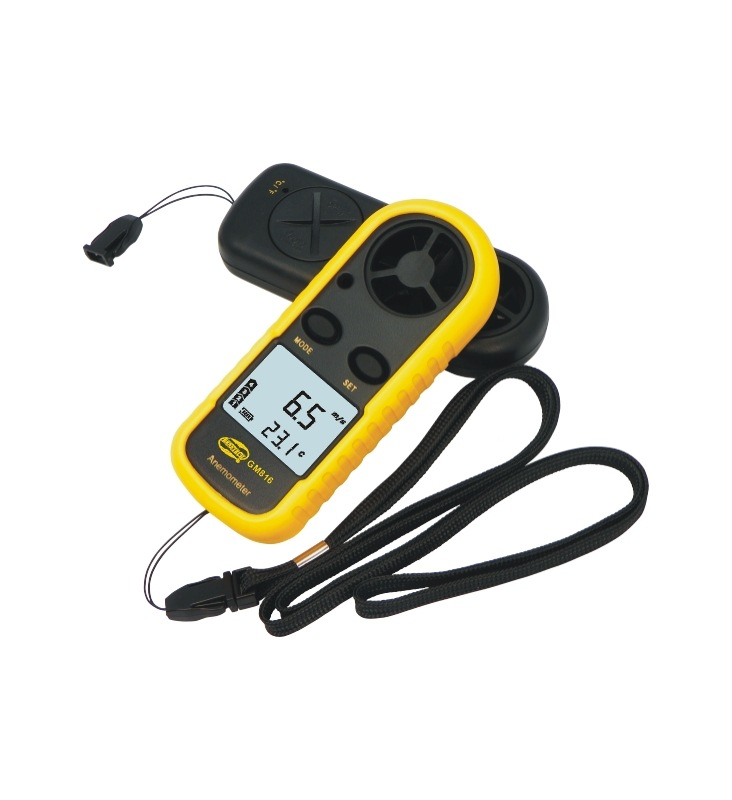 Free Shipping GM816 30m/s (65MPH) LCD Digital Hand held Wind Speed Gauge Meter Measure Anemometer Thermometer-in Digital Batteries from Consumer Electronics    1
