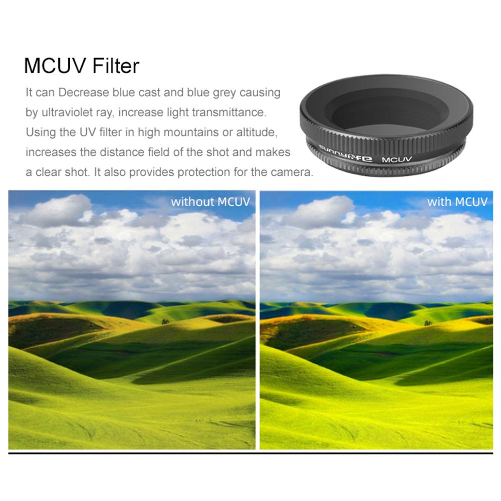 Image 2 - Adjustable Lens Filter Optical Glass Lens Camera MCUV Filter for DJI OSMO Action Gimbal Camera Accessories-in Camera Filters from Consumer Electronics