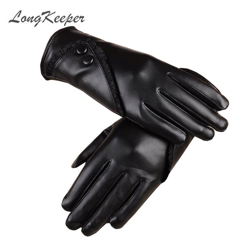LongKeeper High Quality Leather Female Fashion Winter Plus Vs