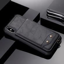 Мода Вертикальный флип бумажник чехол для телефона для iPhone X 7 8 плюс из искусственной кожи держатель для карт Стенд с полосы чехол для iPhone 6 6 S плюс