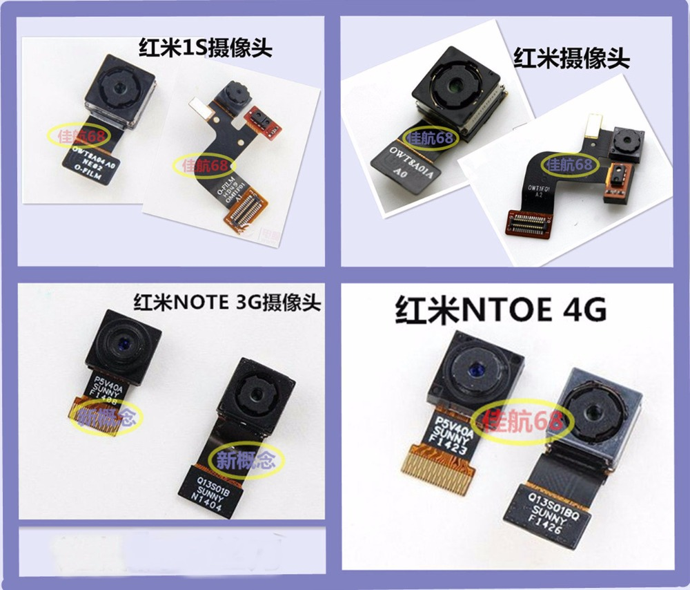 100% original Front camera Flex cable Replacement parts For Xiaomi Redmi 1s / Note 3G hongmi Note 3G / Redmi Note 4G phone