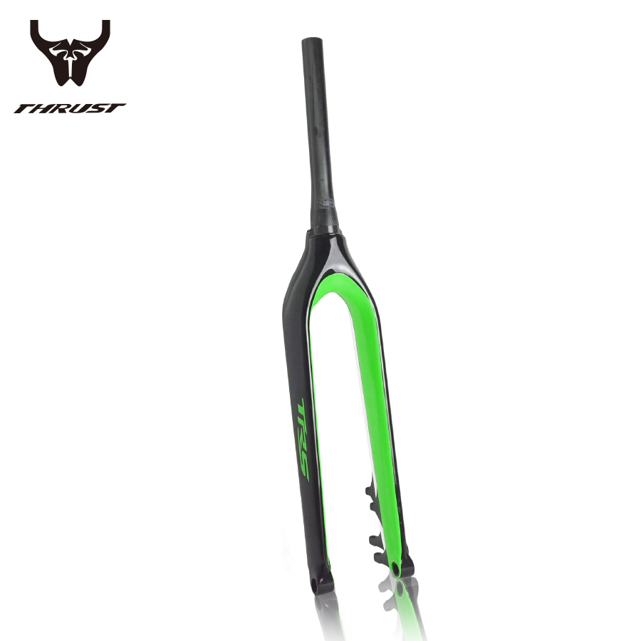 цена 2017 Full Carbon UD/3K Matt/Glossy 29er MTB Fork for Mountain Bikes Fork MTB 29er Fork Carbon Tapered Thru Axle 15mm/9mm Fork