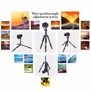 Image 5 - Zomei tripe portátil q666 profissional leve, leve, tripé, de alumínio, monopé, para câmeras digitais dslr