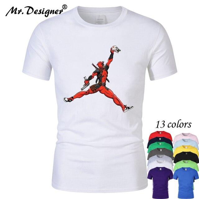 9fa3c565e3a5 2019 New cartoon jordan skulls 100% Pure cotton Short Sleeve t shirt men  women comfortable tops clothes hip hop 13colors CT01009