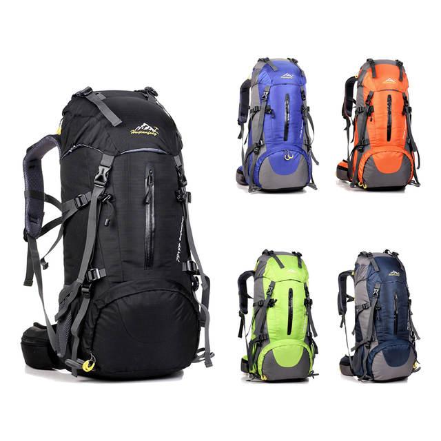01410f67da Online Shop 50L Large Waterproof Travel Bags Rucksack Men Nylon Outdoor Camping  Hiking Bicycle Sports Backpacks Bag Women Climbing Backpack