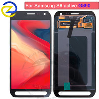 For SAMSUNG GALAXY S6 Active LCD G890 Display Touch Screen Digitizer Assembly Replacement 100% Test For SAMSUNG G890 G890A LCD