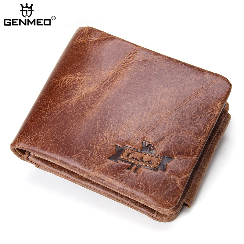 New Arrival Genuine Leather Wallets Men Cow Leather Clutch Bag Big Capacity Real Leather Credit Card Holder Male Purse Bolsa new arrival men wallets 100