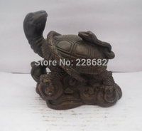 Metal Crafts Home Decoration Crafts Chinese Copper Bronze Carved Turtles And Snakes Figurine Feng Shui Turtles