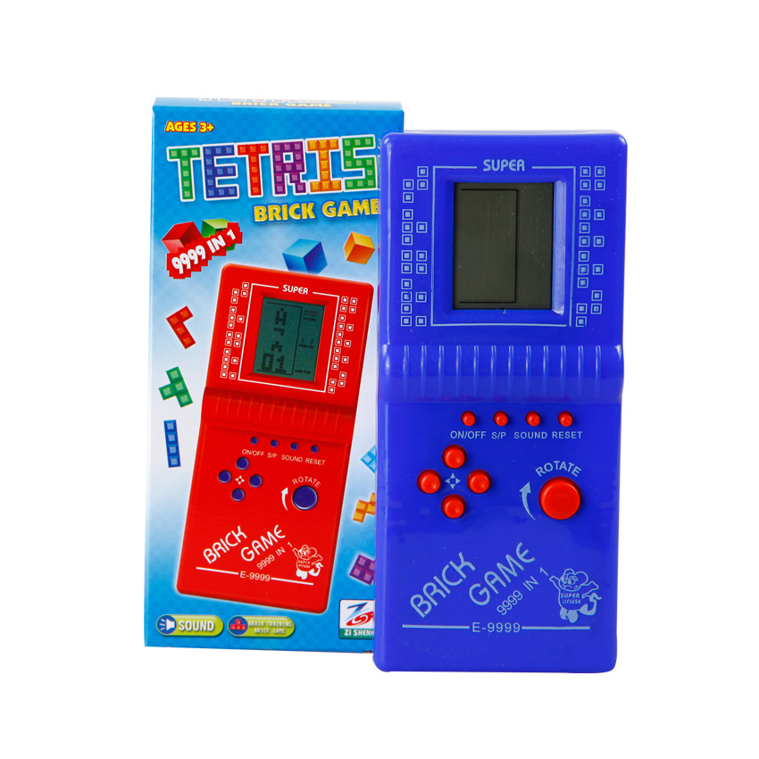 Cdragon Classic Childhood Tetris Handheld Game Players LCD Electronic Games Toys Game Console Riddle Educational Toys