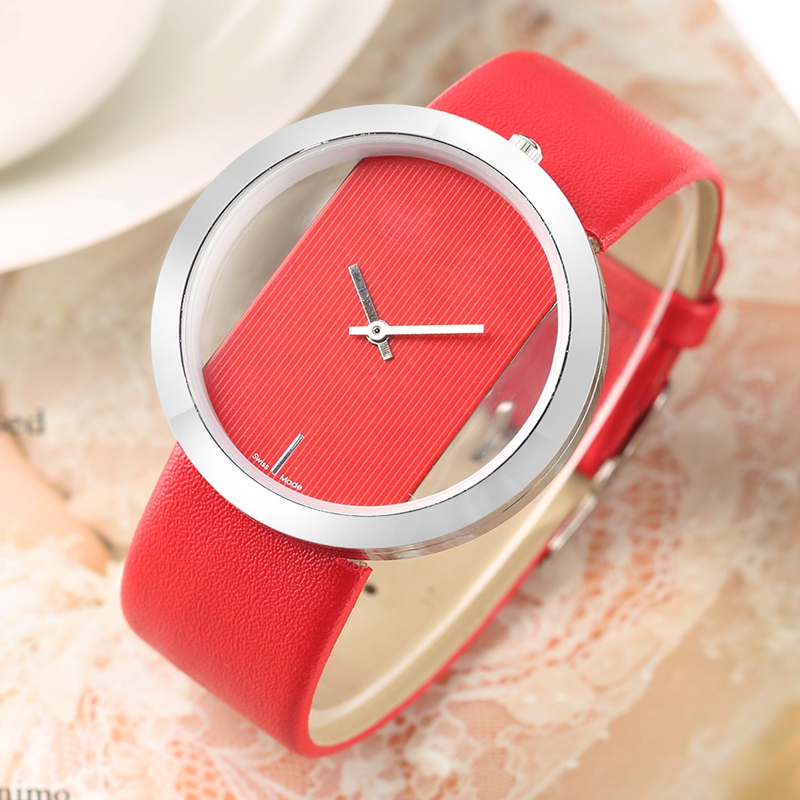Watch Women Luxury Unique Hollow Skeleton Lady Wrist Watches Lucky Red Leather Quartz Casual Stylish Dress relogio feminino Gift (14)
