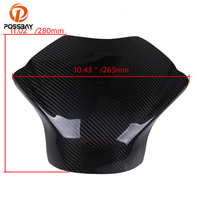POSSBAY 1 PCS Carbon Fiber Motorcycle Gas Oil Tank Pad Cover Protector For Yamaha YZF R6 2008 2009 2010 2011 2012 2013 2014