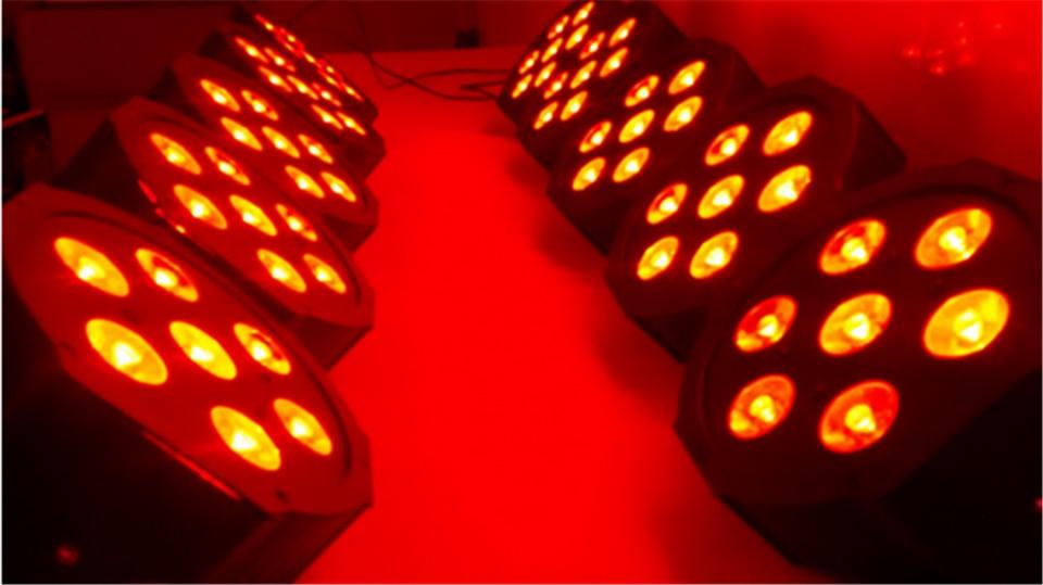 2017 <font><b>7&#215;12</b></font> Вт RGBW DMX сцены бизнес Светодиодные плоский пар высокой мощности света с профессиональным для партия КТВ Дискотека DJ