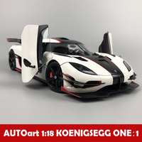 1:18 сплав отступить игрушечный Koenigsegg один: 1 модель автомобиля детских игрушек автомобили оригинальный авторизованный детские игрушки
