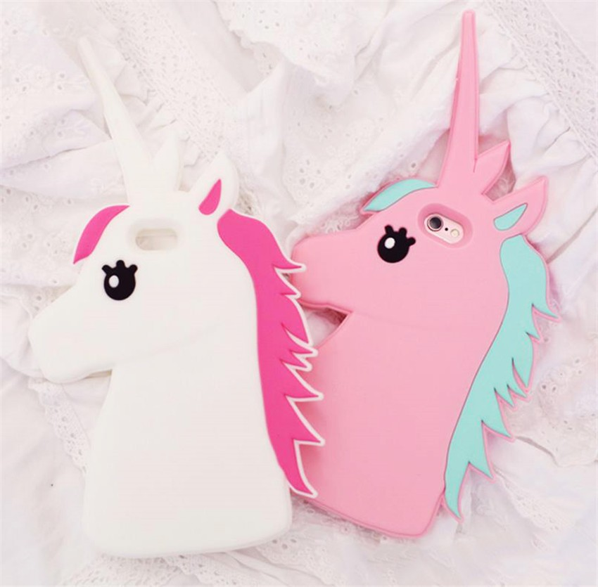 Fantastic Cartoon Unicorn Horse Soft Silicone Phone Cases Cover For IPhone 7 7Plus 4 4G 4S 5 5G