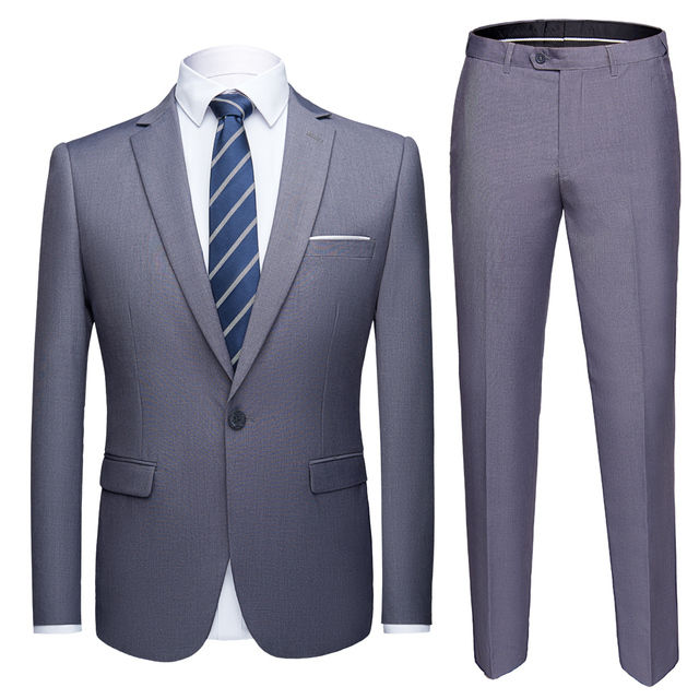 Boutique 3 Pieces Suit Sets / Male Solid Color Blazer Jacket Coat Vest Pants Trousers Waistcoat 1