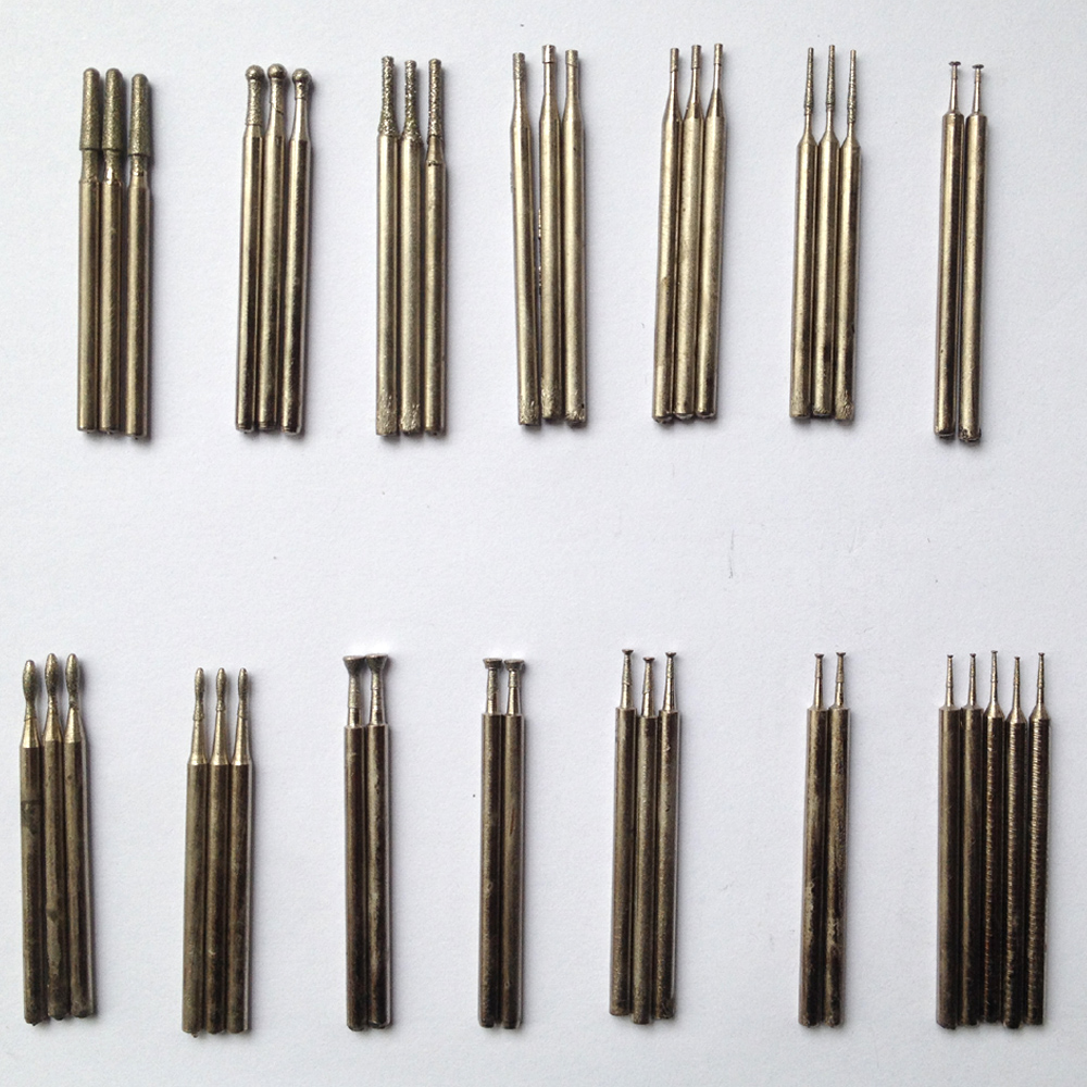 40 Pieces Carved Jade Suit Engraving Needle Grinding Diamond Grinding Tool Grinding Tools, Drill Needle 2.35mm