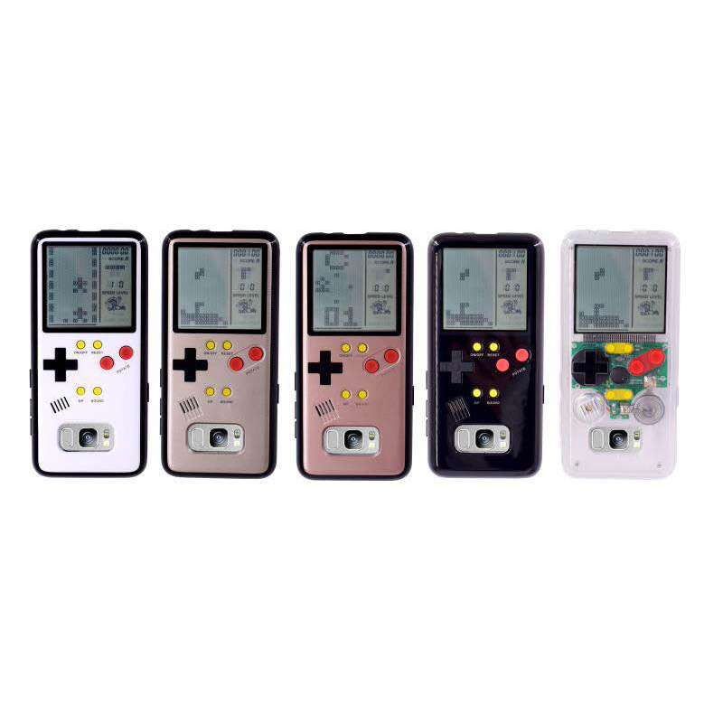 Handheld Dual-use Game Players Tetris Phone Case For Samsung S8 Plus 8 IN1 Games Phone P ...
