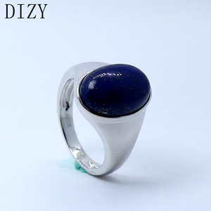 Image 4 - DIZY Oval 10x15mm Natural Lapis lazul Ring 925 Sterling Silver Gemstone Ring for Women Party Daily Romantic Gift Fine Jewerly