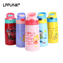400ML Hot Sales babys stuff vacuum water bottle handgrip children Powdered Milk kettle Stainless steel 304 straw thermos flasks