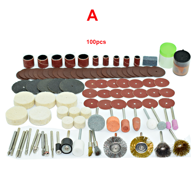 185pcs/ Engraver Abrasive Tools Accessories Dremel Rotary Tool Accessory Set Fits For Dremel Drill Grinding Polishing Saw Blade