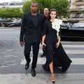 2015 Newest Design Kim Kardashian Red Carpet Dresses Scoop Half Sleeve With Flower Evening Celebrity Dresses