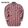 HEYGUYS  2016 HIP hop red plain shirts fashion street wear  shirts man hot selling oversize zipper checked god