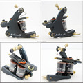 Freeshipping New Getbetterlife Tattoo Machine Gun Black Iron for Liner 8 Wrap Coils for beginner tattoo kit supplies S001